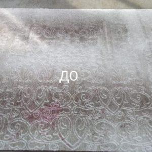 Стирка ковров фото до после